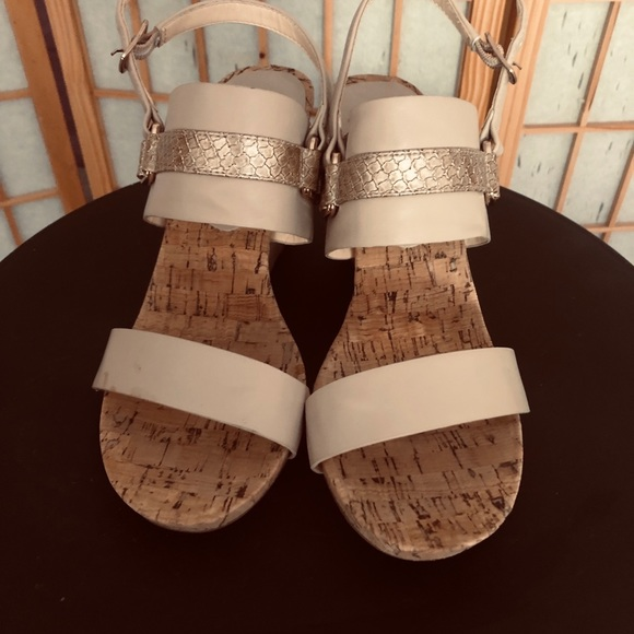 7015a5525f7327 pesaro Shoes | Beige Wedge Sandals | Poshmark